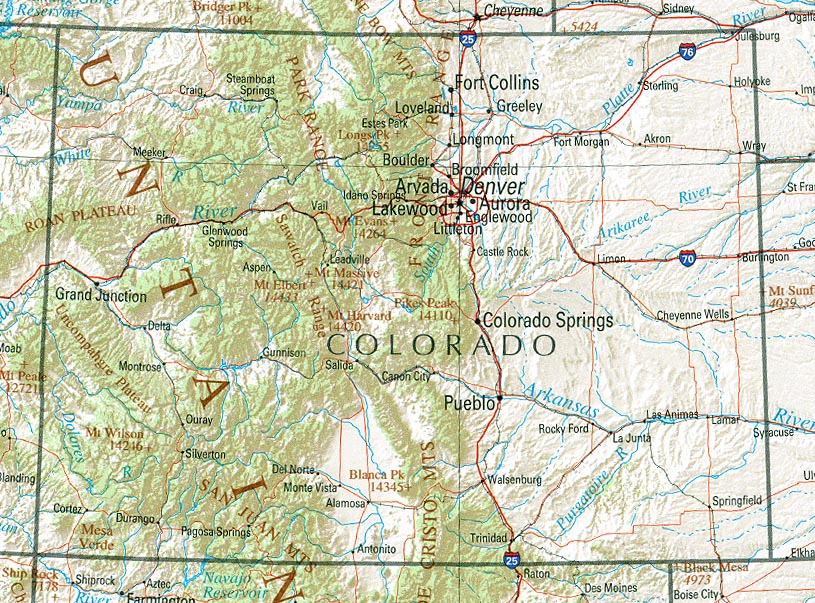 StateMaster Statistics On Colorado Facts And Figures Stats And - Colorado map us