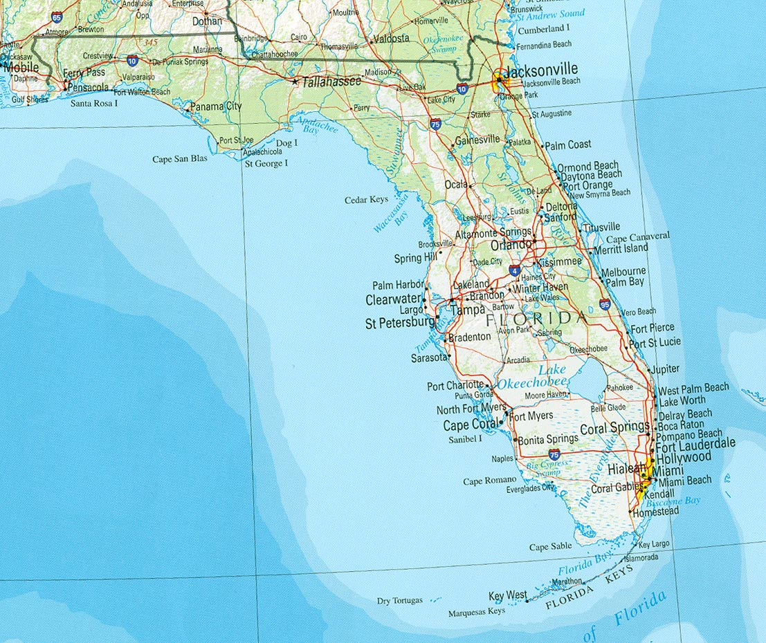 StateMaster Statistics On Florida Facts And Figures Stats And - Map of south florida
