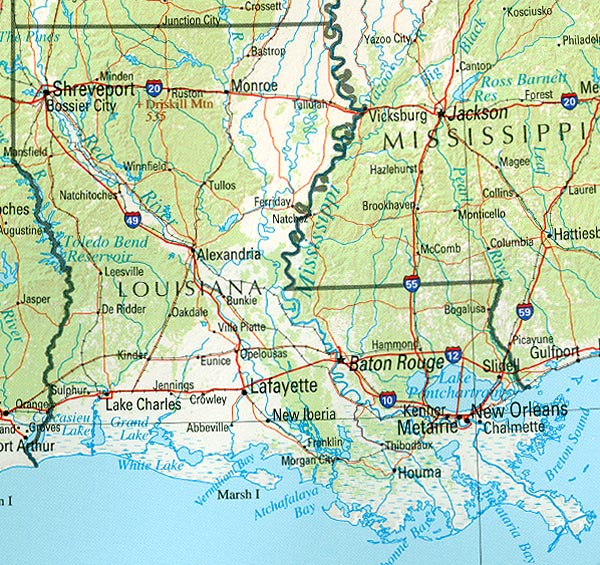 StateMaster Statistics on Louisiana facts and figures stats