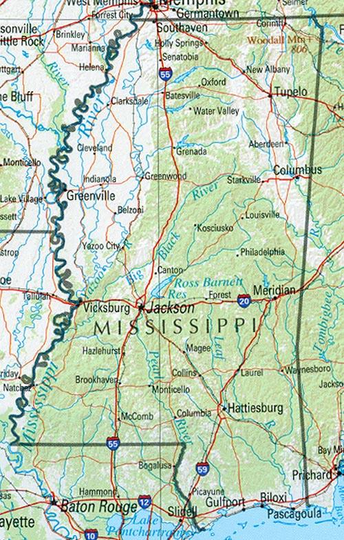 Statemaster Statistics On Mississippi Facts And Figures Stats: Map Of South Mississippi At Slyspyder.com