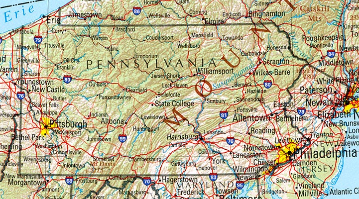 StateMaster Statistics on Pennsylvania facts and figures stats