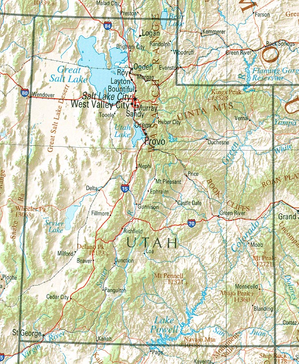 StateMaster Statistics On Utah Facts And Figures Stats And - Us map utah