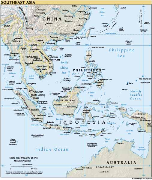 Geographical Map Of Southeast Asia.Geography All You Wanted To Learn About South East Asia