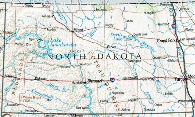 north dakota on the map Statemaster Statistics On North Dakota Facts And Figures Stats north dakota on the map