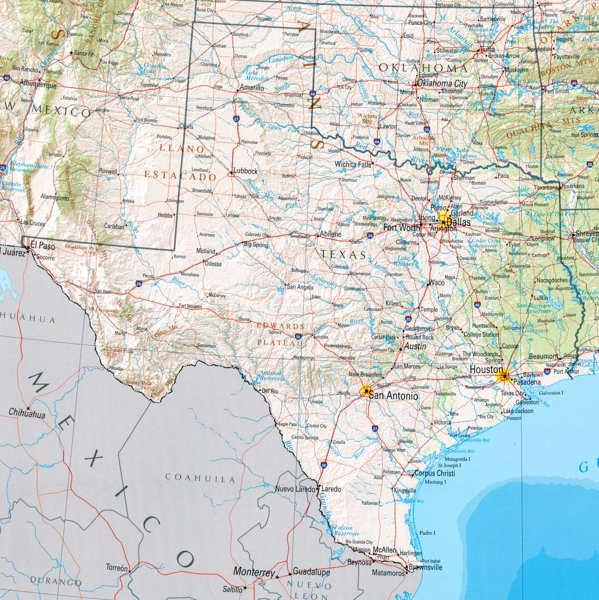 texas karte StateMaster   Statistics on Texas. facts and figures, stats and  texas karte