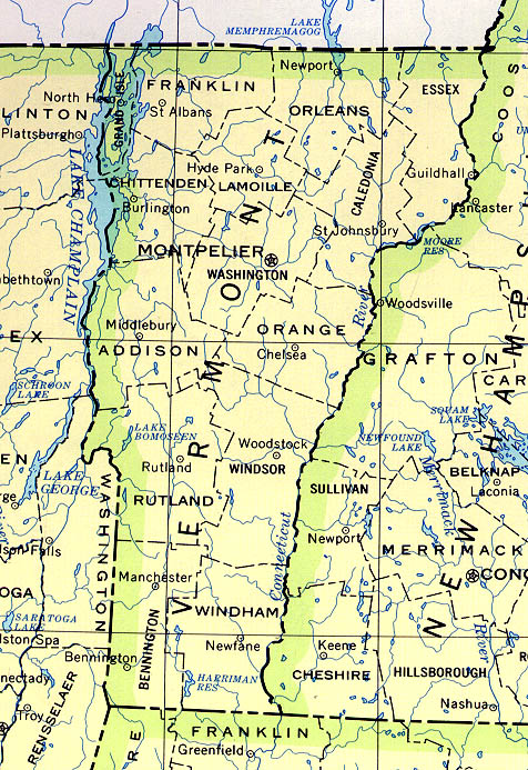 Map Of New York And Vermont.Statemaster Statistics On Vermont Facts And Figures Stats And