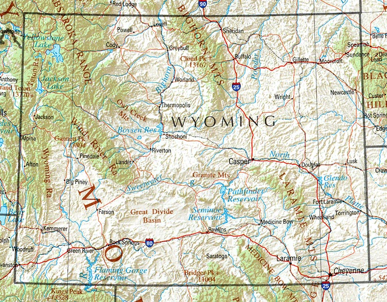 Mountain View Wyoming Map.Statemaster Statistics On Wyoming Facts And Figures Stats And